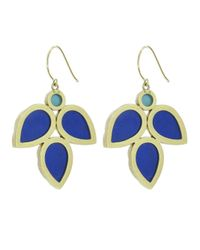 Irene Neuwirth - Blue Leaf Motif Earring - Lyst