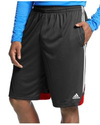 Adidas | Black Big And Tall Men's 3g Speed Climalite Shorts for Men | Lyst