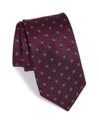 Michael Kors | Red 'masterful' Floral Silk Tie for Men | Lyst