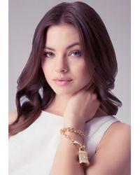 Bebe | Metallic Lion Padlock Bracelet | Lyst