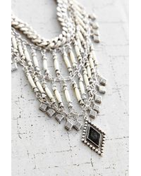 Vanessa Mooney - Metallic Midnight Silver Statement Necklace - Lyst