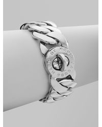 Marc By Marc Jacobs | Metallic Katie Turnlock Bracelet/silvertone | Lyst
