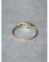 Free People | Metallic Workhorse Womens Eike Diamond Ring | Lyst