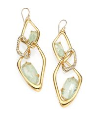 Alexis Bittar - Metallic Crackle Stone Crystal Infinity Link Earrings - Lyst