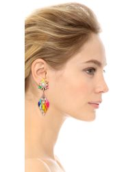 Shourouk - Multicolor Cobra Earrings Rainbow - Lyst