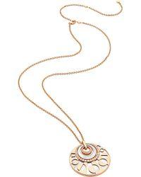 BVLGARI | Intarsio Mediterranean Eden 18ct Pink-gold Necklace | Lyst