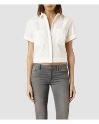 AllSaints - White Era Shirt - Lyst