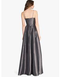 Halston - Metallic Memory Taffeta Structured Gown - Lyst