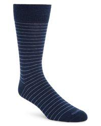 Etiquette - Blue 'needle Stripe' Socks for Men - Lyst