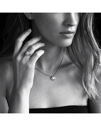 David Yurman | Metallic Petite Wheaton Ring With Diamonds | Lyst