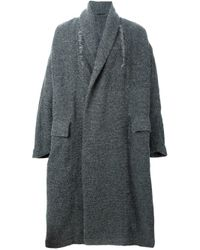 Damir Doma | Gray 'ciro' Wrap Coat for Men | Lyst