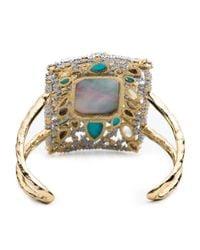 Alexis Bittar | Multicolor Elements Mosaic Spiked Swarovski Crystal Cuff | Lyst