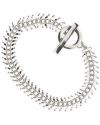 Anne Klein - Metallic Polished Chain And Bar Bracelet - Lyst