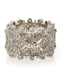 Judith Ripka - Metallic Deco Estate Diamond Wide Band Ring 6 - Lyst