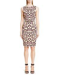 Givenchy | Natural Jaguar Printed Milano Jersey Dress | Lyst