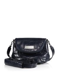 Marc By Marc Jacobs - Blue New Q Natasha Crocodile-Embossed Crossbody Bag - Lyst
