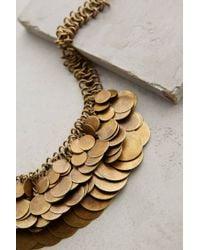 Anthropologie - Metallic Shilling Bib Necklace - Lyst