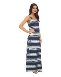 Splendid | Blue Zanzibar Crossback Maxi Dress | Lyst