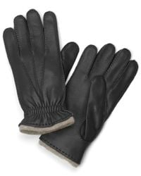 Brooks Brothers | Black Deerskin Cashmere Lined Gloves for Men | Lyst