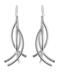 Nest | Metallic Silver-plate Twisted Drop Earrings | Lyst