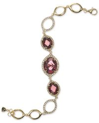 Judith Jack | Metallic Gold-tone Stone And Crystal Open Link Bracelet | Lyst