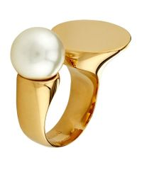 Chloé - Metallic Darcy Pearl Ring - Lyst