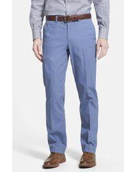 Bills Khakis - Blue 'm3' Trim Fit Flat Front Cotton Poplin Pants for Men - Lyst