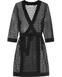 Mimi Holliday by Damaris - Black Rockhopper Penguin Polka-dot Lace Robe - Lyst