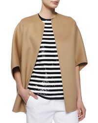 Michael Kors | Natural Open-Front Boxy Coat | Lyst
