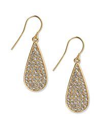 Lauren by Ralph Lauren - Metallic 14k Goldplated Crystal Pave Teardrop Earrings - Lyst