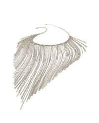 Forever 21 | Metallic Fringed Chain Statement Necklace | Lyst