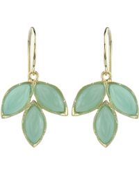 Irene Neuwirth - Green Gemstone Triple Marquise Earrings - Lyst