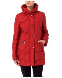 Basler - Red Padded Short Coat - Lyst
