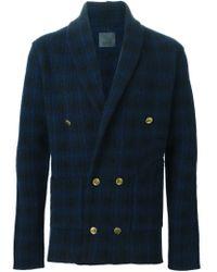Laneus - Blue Double Breasted Blazer for Men - Lyst
