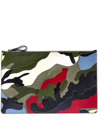 Valentino | Multicolor Large Multicolour Camouflage Pouch for Men | Lyst