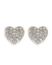 Astley Clarke - Metallic Little Heart Stud Earrings - Lyst