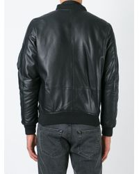 DIESEL | Black 'l-shadow' Bomber Jacket for Men | Lyst