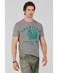 True Religion | Gray American Indian Mens T-shirt for Men | Lyst