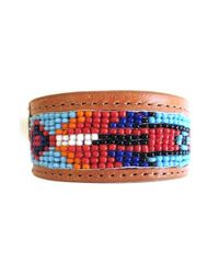Will Leather Goods - Brown Beaded Cuff Bracelet - Natural for Men - Lyst