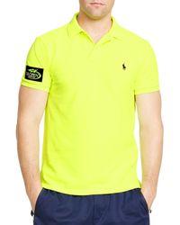 Ralph Lauren - Yellow Polo Us Open Custom-fit Big Pony Neon Slim Fit Polo Shirt for Men - Lyst