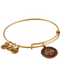 ALEX AND ANI | Metallic U.s. Navy Charm Bangle | Lyst