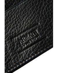 Armani - Black Card Holder for Men - Lyst