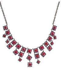 Larkspur & Hawk - Red Silver Amethyst Bella Front Centre Necklace - Lyst