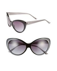 Kensie | Black 'maureen' 59mm Cat Eye Sunglasses | Lyst