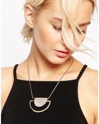 ASOS | Multicolor Sleek Semi-circle Necklace | Lyst