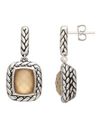 Lord & Taylor - Metallic Sterling Silver And Quartz Doublet Earrings - Lyst