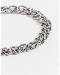 Seven London | Metallic Even London Chain Bracelet In Silver for Men | Lyst