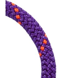 Marc By Marc Jacobs Purple Set Of Two Braided Cord And Enamel Bracelets