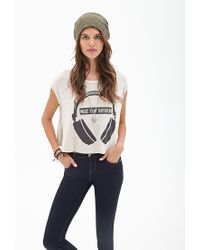 Forever 21 - Natural Boxy Music Tee - Lyst
