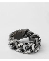 AllSaints - Gray Ariel Bracelet - Lyst